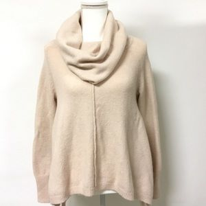 Ruby moon pale blush pink cowl neck sweater sz med